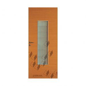Puerta interior Euroline, mod. Mogno, vidriado.