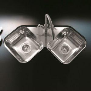 Pileta doble esquinera X-28
