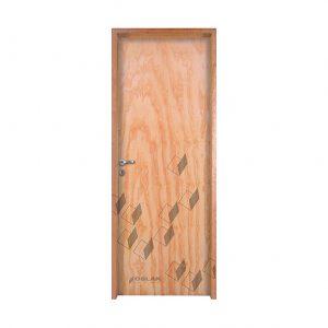 Puerta placa, mod. Klara, marco madera.
